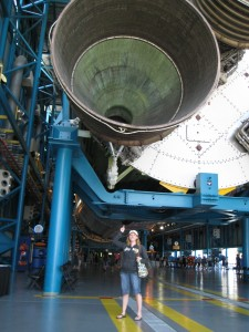 Kennedy Space Center in April 2011- attempted to see Space Shuttle Launch